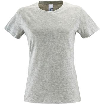 Vêtements Femme T-shirts manches courtes Sols Regent Cendre