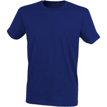 Vêtements Homme T-shirts manches courtes Skinni Fit Stretch Bleu marine chiné