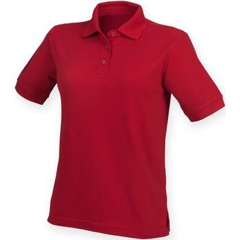 Vêtements Femme Polos manches courtes Henbury HB401 Rouge vintage