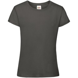Vêtements Fille T-shirts manches courtes Fruit Of The Loom Sofspun Gris graphite