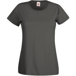 Vêtements Femme T-shirts manches courtes Universal Textiles 61372 Graphite