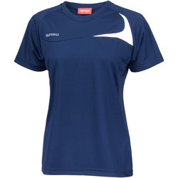 Vêtements Femme T-shirts manches courtes Spiro Performance Bleu marine/Blanc