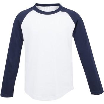 Vêtements Enfant T-shirts manches longues Skinni Fit Baseball Blanc/Bleu marine