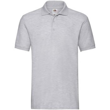 Vêtements Homme Polos manches courtes Fruit Of The Loom Premium Gris clair