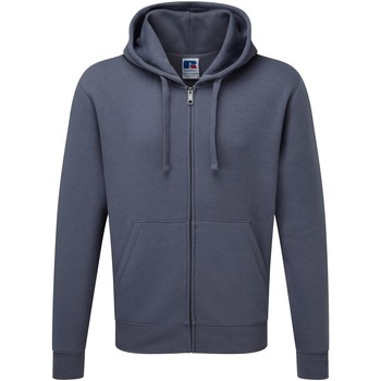 Vêtements Homme Sweats Russell Sweatshirt à capuche et fermeture zippée BC1499 Gris convoi