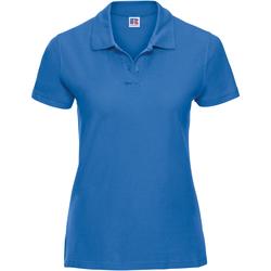 Vêtements Femme Polos manches courtes Russell Polo 100% coton à manches courtes RW3281 Bleu azur