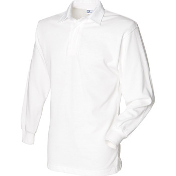 Vêtements Homme Polos manches longues Front Row Rugby Blanc/Blanc