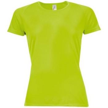 Vêtements Femme T-shirts manches courtes Sols Sporty Vert néon