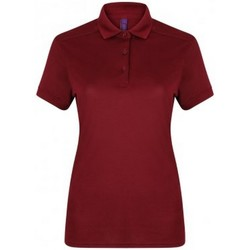 Vêtements Femme Polos manches courtes Henbury Pique Bordeaux