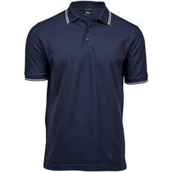 Vêtements Homme Polos manches courtes Tee Jays Stripe Bleu marine / blanc