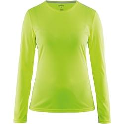 Vêtements Femme T-shirts manches longues Craft CT89F Jaune fluo