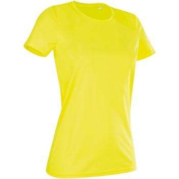 Vêtements Femme T-shirts manches courtes Stedman Active Jaune