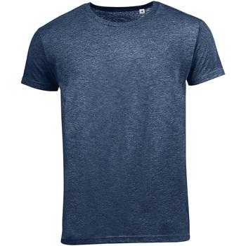 Vêtements Homme T-shirts manches courtes Sols 01182 Bleu marine chiné