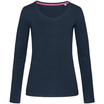 Vêtements Femme T-shirts manches longues Stedman Stars Claire Bleu marine