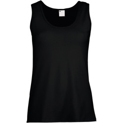 Vêtements Femme Débardeurs / T-shirts sans manche Universal Textiles Fitted Noir