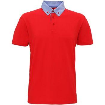 Vêtements Homme Polos manches courtes Toutes les chaussures femme Chambray Rouge / bleu ciel