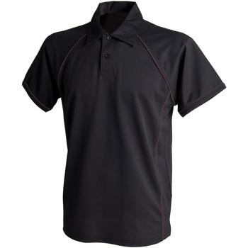 Vêtements Homme Polos manches courtes Finden & Hales Piped Noir/Noir