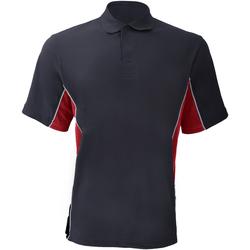 Vêtements Homme Polos manches courtes Gamegear Pique Bleu marine/Rouge/Blanc