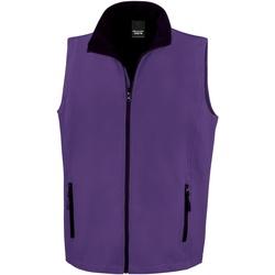 Vêtements Homme Gilets / Cardigans Result R232M Violet / Noir