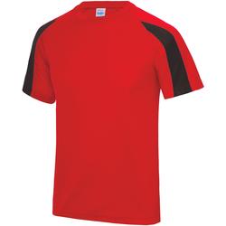Vêtements Enfant T-shirts manches courtes Just Cool Contrast Rouge feu/Noir