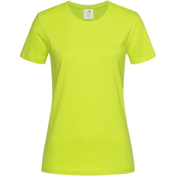 Vêtements Femme T-shirts manches courtes Stedman Classics Vert citron