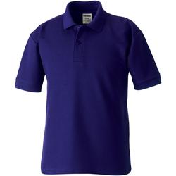 Vêtements Garçon Polos manches courtes Jerzees Schoolgear Pique Violet