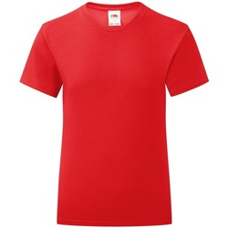 Vêtements Fille T-shirts manches courtes Fruit Of The Loom Iconic Rouge
