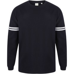 Vêtements Homme T-shirts manches longues Skinni Fit Slogan Bleu marine/Blanc