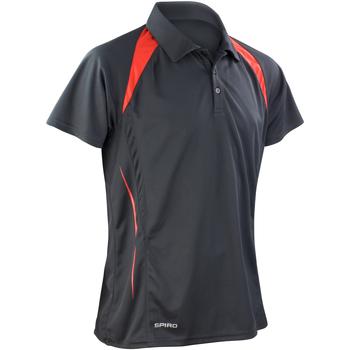 Vêtements Homme Polos manches courtes Spiro Performance Noir/Rouge