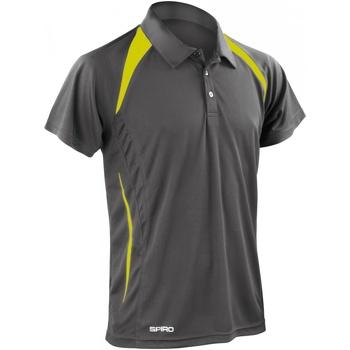 Vêtements Homme Polos manches courtes Spiro Performance Gris/Vert citron