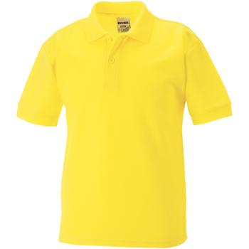 Vêtements Garçon Polos manches courtes Jerzees Schoolgear 65/35 Jaune