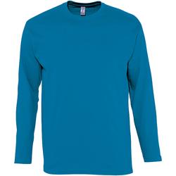 Vêtements Homme T-shirts manches longues Sols Monarch Bleu aqua