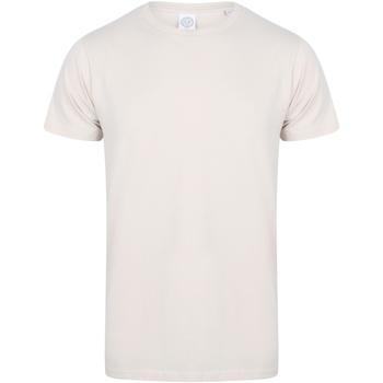 Vêtements Homme T-shirts manches courtes Skinni Fit Stretch Blanc cassé