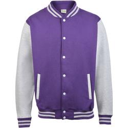 Vêtements Homme Blousons Awdis Varsity Violet/Gris