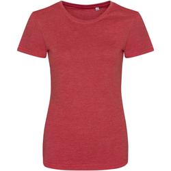 Vêtements Femme T-shirts manches courtes Awdis Girlie Rouge chiné