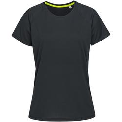 Vêtements Femme T-shirts manches courtes Stedman Raglan Noir