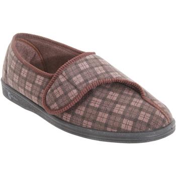 Chaussures Homme Chaussons Comfylux Check Marron foncé