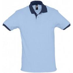 Vêtements Polos manches courtes Sols Contrast Bleu ciel/Bleu marine