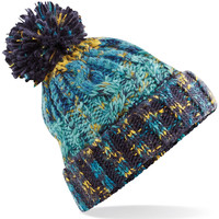 Accessoires textile Bonnets Beechfield Pom Pom Bleu vert