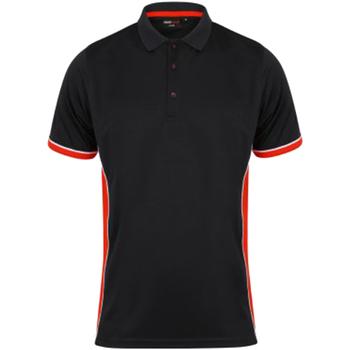 Vêtements Homme Polos manches courtes Finden & Hales Contrast Noir/Rouge/Blanc