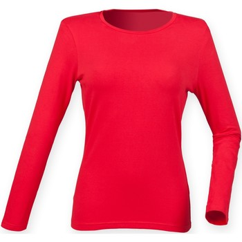 Vêtements Femme T-shirts manches longues Skinni Fit Stretch Rouge vif