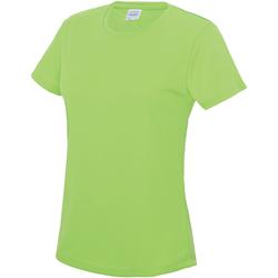 Vêtements Femme T-shirts manches courtes Just Cool JC005 Vert électrique