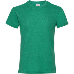 Vêtements Fille T-shirts manches courtes Fruit Of The Loom Valueweight Vert rétro chiné