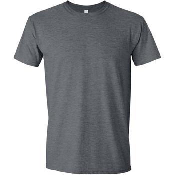 Vêtements Homme T-shirts manches courtes Gildan Soft-Style Gris foncé chiné