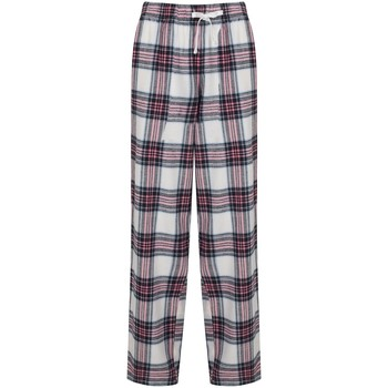 Vêtements Femme Pantalons fluides / Sarouels Skinni Fit Tartan blanc/rose