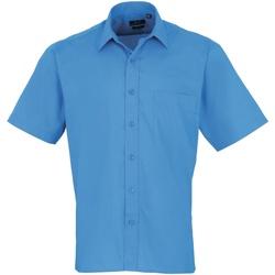 Vêtements Homme Chemises manches courtes Premier PR202 Saphir
