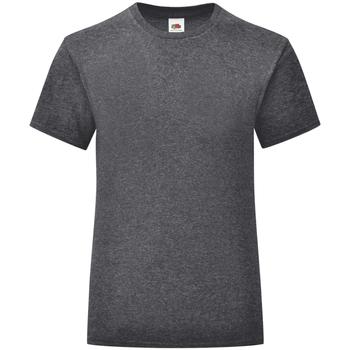 Vêtements Fille T-shirts manches courtes Fruit Of The Loom Iconic Gris foncé chiné
