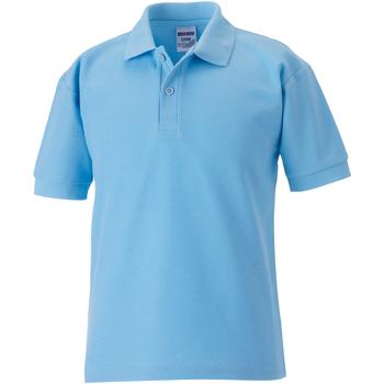 Vêtements Garçon Polos manches courtes Jerzees Schoolgear 65/35 Bleu ciel