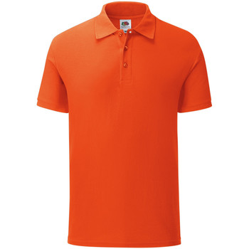 Vêtements Homme Polos manches courtes Fruit Of The Loom Iconic Orange