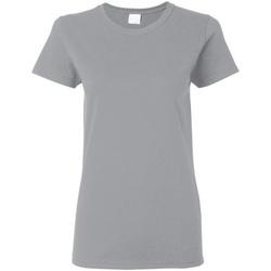 Vêtements Femme T-shirts manches courtes Gildan Missy Fit Gris